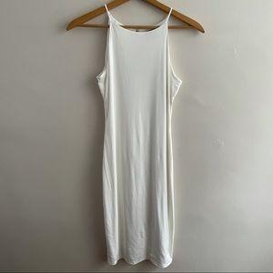 Joe & Elle High Neck Bodycon Midi Dress White L